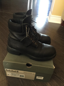 Timberland Boots (black leather) size 8