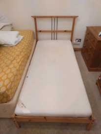 Free single bed and mattress.