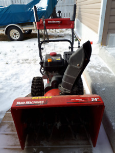 Gas powered snow blower with electric start its a 24 inch 2016