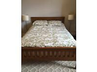Solid Oak bed frame - Kingsize