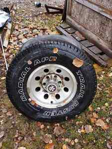 Set of 2 classic gm wheels with good tires.