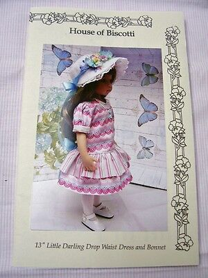 "Effner 13"" Little Darling PATTERN, Drop Waist Dress, Bonnets"
