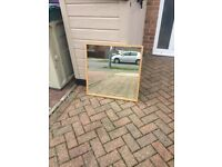 Square oak effect mirror
