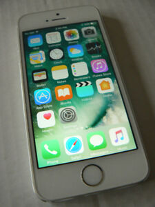 iphone 5s Silver Gray Factory Unlocked Rogers,Chatr,Wind,Freedom