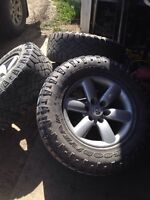 Tires and rims off Nissan Titan