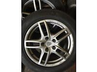 "Porsche cayenne 19"" inch alloy wheels fit vw toureg audi q7 maybe others"