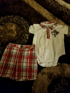 Canada day outfit baby boy