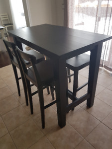 Ikea Stornas Bar Table And Ingolf Chairs