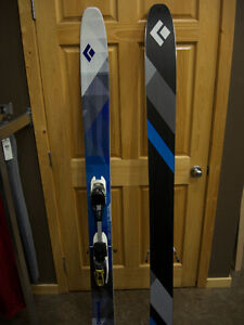 BD Carbon Megawatt Skis with Fritschi Freeride Pro Bindings