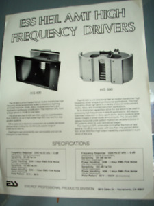 ESS HEIL AMT HIGH FREQUENCY DRIVERS