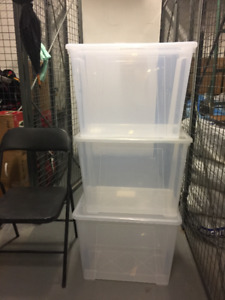 IKEA storage or moving BOX transparent lids included 13 boxes