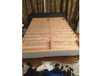 Double sultana mattress with wooden fitting £29