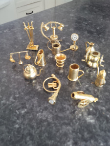Collection of brass miniatures