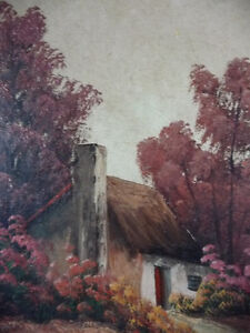 New England Fantasy Oil Painting by Joseph Collazzi 1930's Stratford Kitchener Area image 9