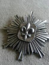 Authentic French brooch pewter fleur-di-lys Valentine Lake Macquarie Area Preview