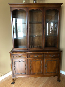 Solid Wood ,Two Piece China Cabinet