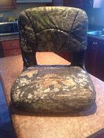Folding camouflage boat seat.  BRAND NEW.