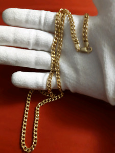 10k gold curb link chain