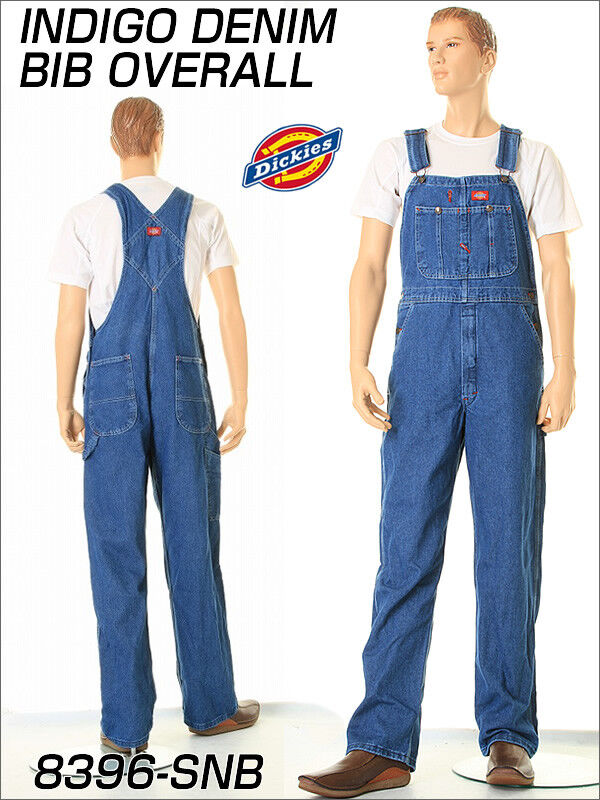 Dickies 8396SNB StoneWash Indigo Blue Bib Overalls Size 30-50  *Free US Shipping Clothing, Shoes & Accessories