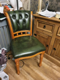 Chesterfield Captain chair green leather