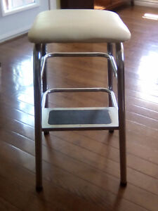 Vintage chrome step stool