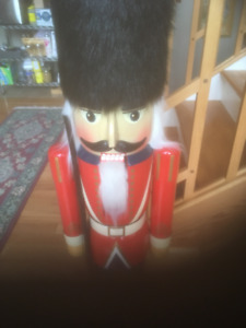 3 foot functioning Wooden Nutcracker