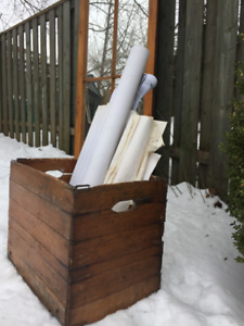ANTIQUE Collapsible Box or Side Table