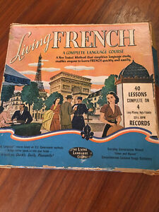 Living French a complete language course - on LP