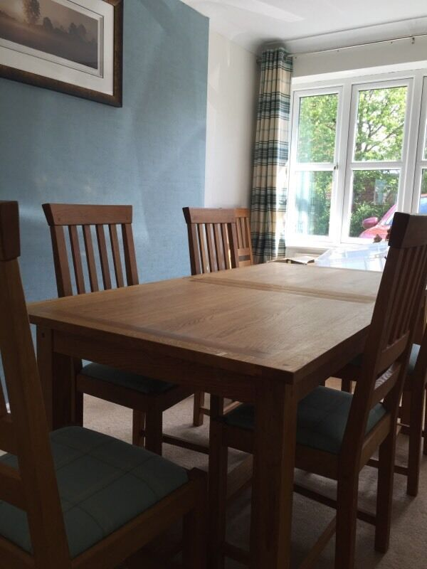 Laura Ashley Milton Oak Dining Table 6 Chairs