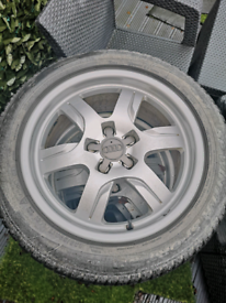 Genuine Audi/Vw alloy wheels with winter tyres