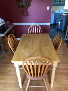 Wooden Kitchen Table Set