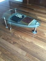 Structube Chrome and glass coffee table