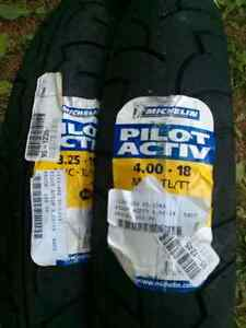 BRAND NEW MOTORCYCLE TIRES MICHELIN Peterborough Peterborough Area image 1