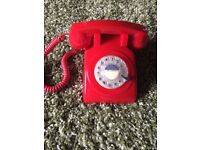 Retro Vintage Style Desk Phone - working rotary dial