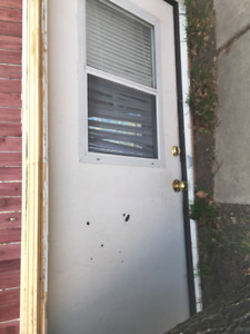 White Steel Exterior Door With Window