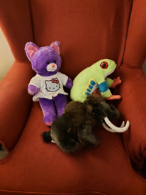 Big plush toys £2 each - £3 for the mammoth