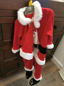 9- 12 months boys Santa Claus Christmas outfit, new with tags