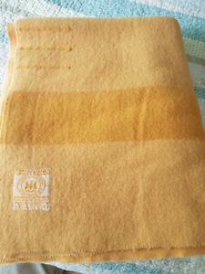 Collectible, Vintage Gold HBC 4 Point Blankets ca. 1955-1973