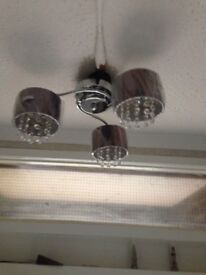2 shade black flush light fitting REDUCED