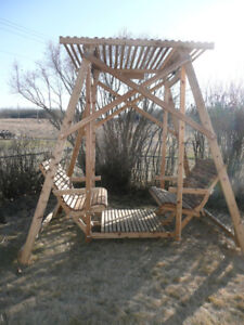 Cedar Garden Swing - 4 Seater - New