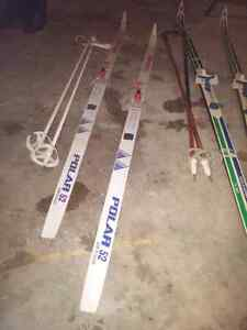 Two pairs of Cross Country Skis