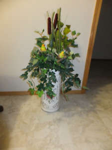 "FOR SALE Vase/Umbrella Stand 8""x8""x18"" high. $20. Call 306-352-0"