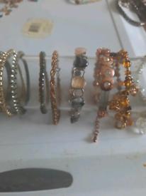 A selection of ladies bracelets