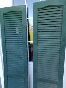 Vinyl Window Shutters Painted Rustic Green Belleville Belleville Area image 2