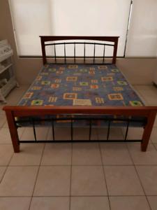 Queen Bed & Base