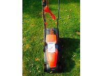 Sovereign electric mower, new and unused.