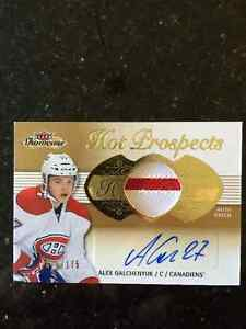 Fleer showcase Alex Galchenyuk rc patch auto