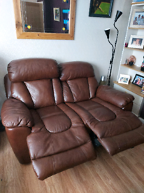 Leather sofa electric recliners