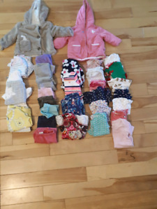 3 to 6 month girl clothing