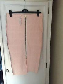 River island zip up front skirt